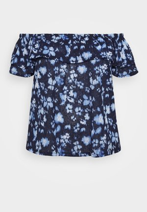 POPPY - Print T-shirt - true navy