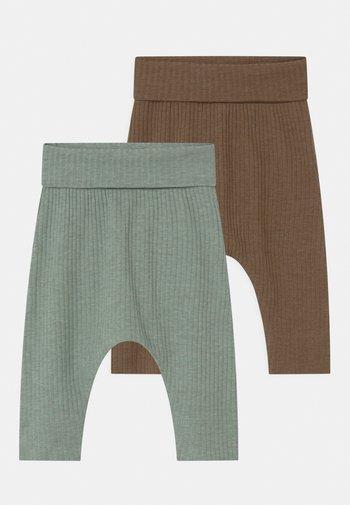 NBMFRODDE 2 PACK - Leggings - Trousers - desert palm/iceberg green