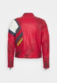 Diesel - L-POWER - Leather jacket - red - 1