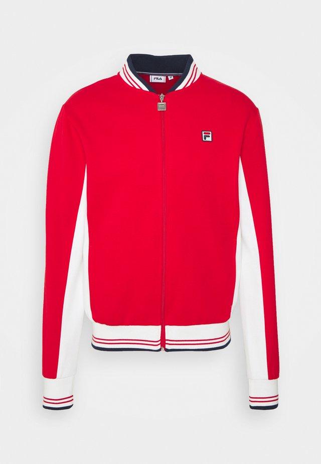 SETTANTA TRACK JACKET - Sportovní bunda - true red-blanc de blanc
