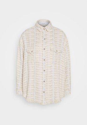 MARSH - Short coat - ecru/silver