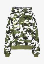 SIGNATURE CAMO HOODIE - Bluza z kapturem - green/white/black/yellow