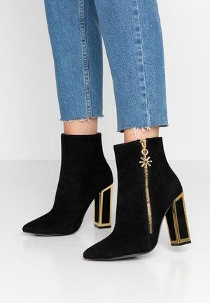 AGNES - Kotníková obuv na vysokém podpatku - black/gold