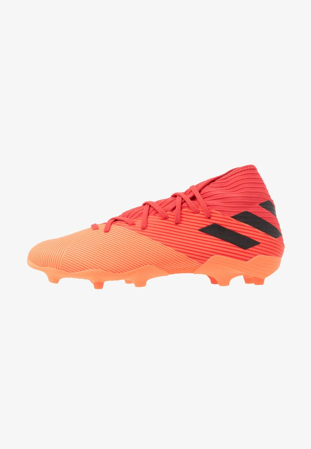 NEMEZIZ 19.3 FG - Moulded stud football boots - signal coral/core black/glory red