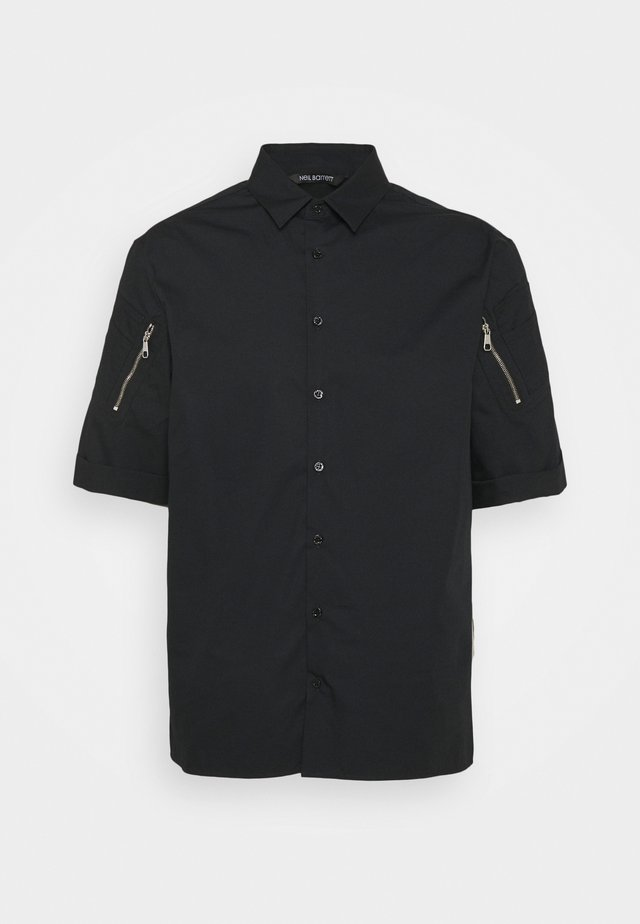 POCKETS ON SLEEVE - Chemise - black
