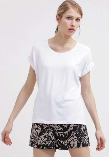 ONLMOSTER ONECK - T-shirts - white