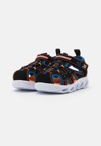 Skechers - HYPNO SPLASH - Walking sandals - black/blue/orange - 1