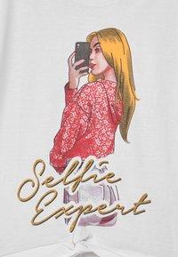 Lemon Beret - TEEN GIRLS  - Print T-shirt - optical white - 2