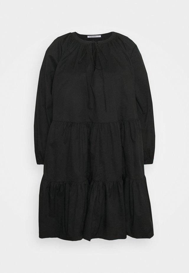 Day dress - black cotton
