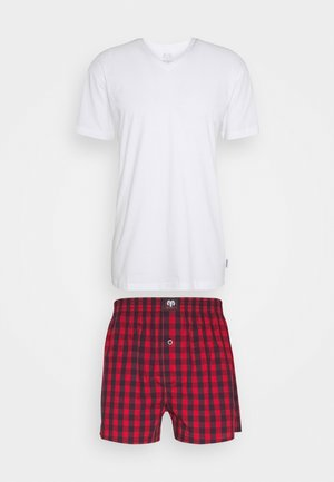 X-MAS SET - Pyjamas - red medium checks