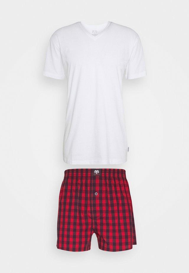 X-MAS SET - Pyžamo - red medium checks