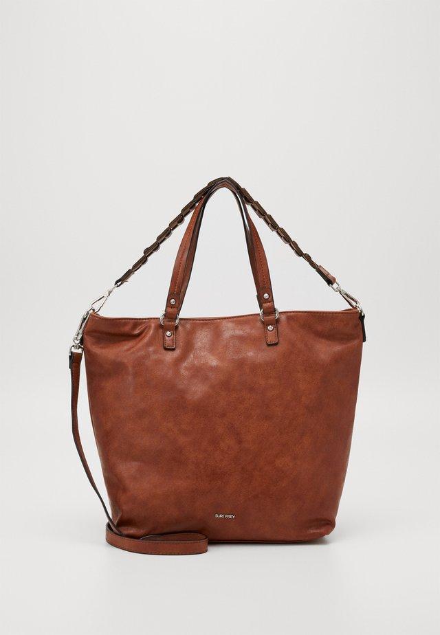 LUZY - Handbag - cognac