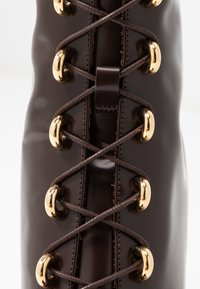 L'Autre Chose - High heeled ankle boots - dark brown - 2