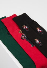 Polo Ralph Lauren - COCOA BEAR 3 PACK - Chaussettes - red/green/black - 2