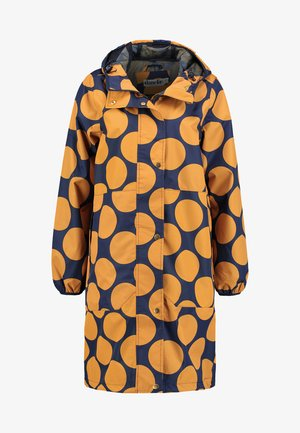 EDITH RAINJACKET - Waterproof jacket - navy/amber
