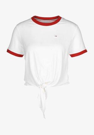 Print T-shirt - white/deep crimson