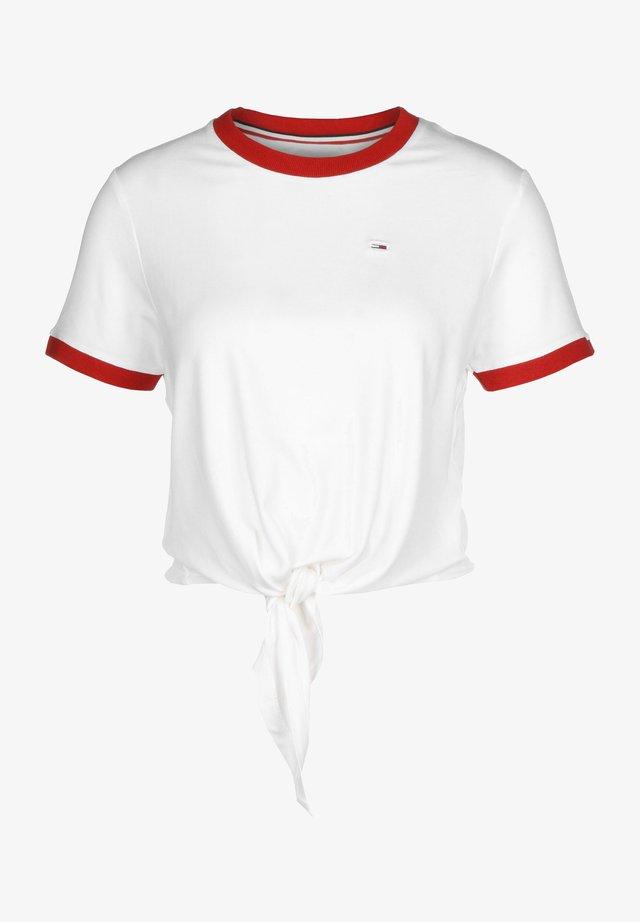 T-shirt con stampa - white/deep crimson