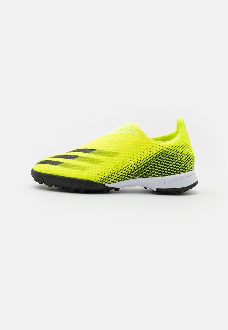 adidas Performance - X GHOSTED.3 LL TF UNISEX - Kopačky na umělý trávník - solar yellow/core black/royal blue