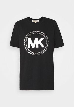 CHAIN LOGO - Print T-shirt - black/silver