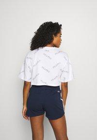 Fila - JAMILIA WIDE CROPPED TEE - Print T-shirt - bright white - 2
