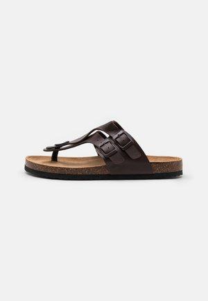 PENTLE - T-bar sandals - brown