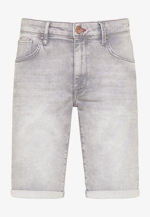 Denim shorts - dusty silver