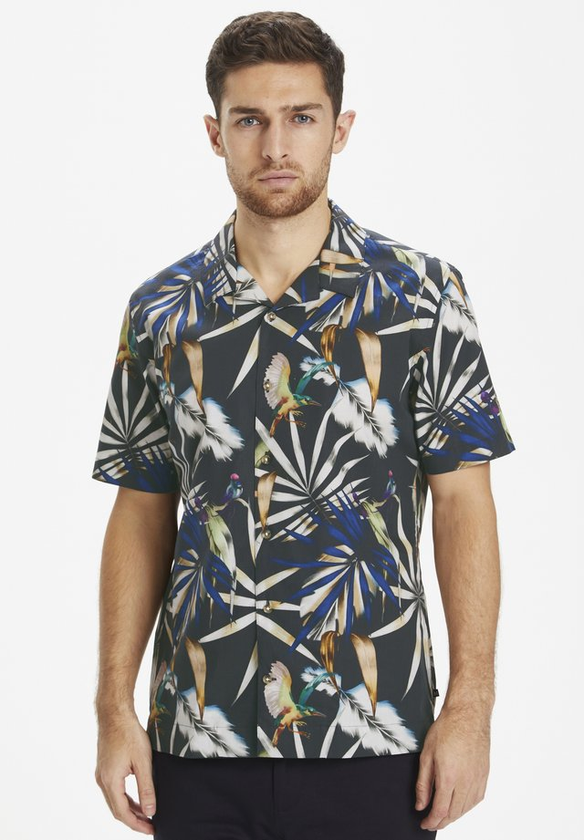 MATROSTOL RESORT 2 PRINTED PALM - Camisa - mediterranien blue