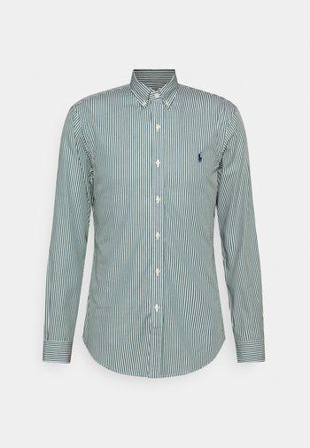 LONG SLEEVE SPORT - Shirt - pine/white