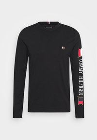 Tommy Hilfiger - MIRRORED FLAGS LONG SLEEVE  - Long sleeved top - black - 3