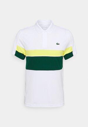TENNIS TOUR - Piké - blanc/vert/jaune/blanc/noir