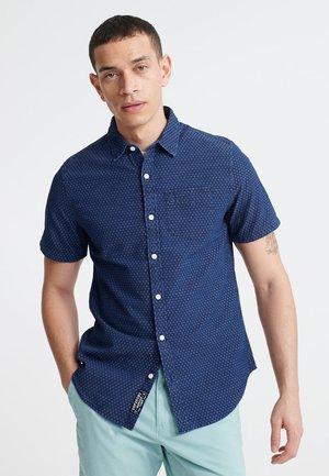 LOOM - Shirt - indigo dobbie