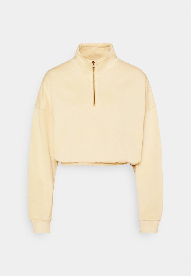 PARIS ZIP THRU - Sweatshirt - dune