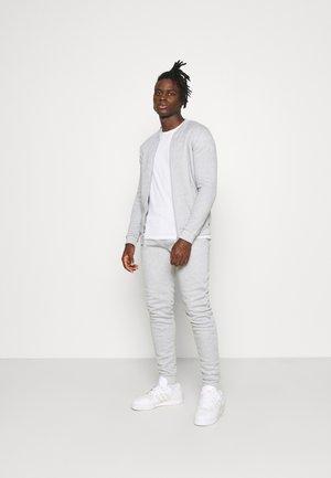 Zip-up hoodie - light grey marl