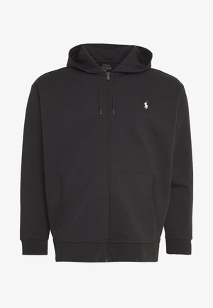 DOUBLE TECH HOOD - Felpa aperta - black
