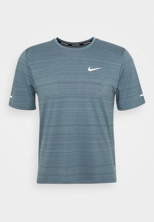 MILER  - T-shirt con stampa - ozone blue/silver