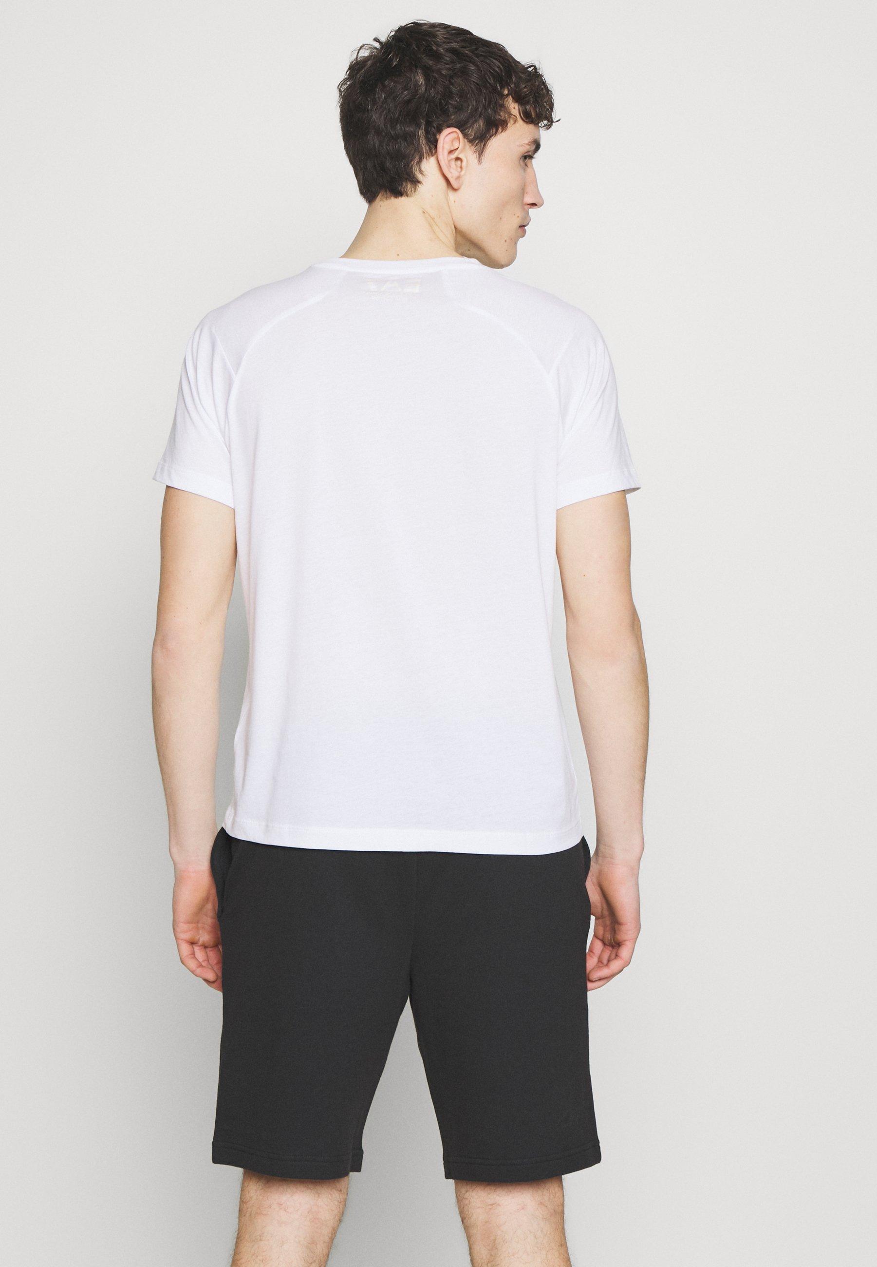 EA7 Emporio Armani Print T-shirt - white 9OQ9T