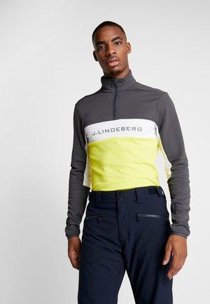 KIMBALL STRIPED JACKET - Fleece jumper - asphalt black