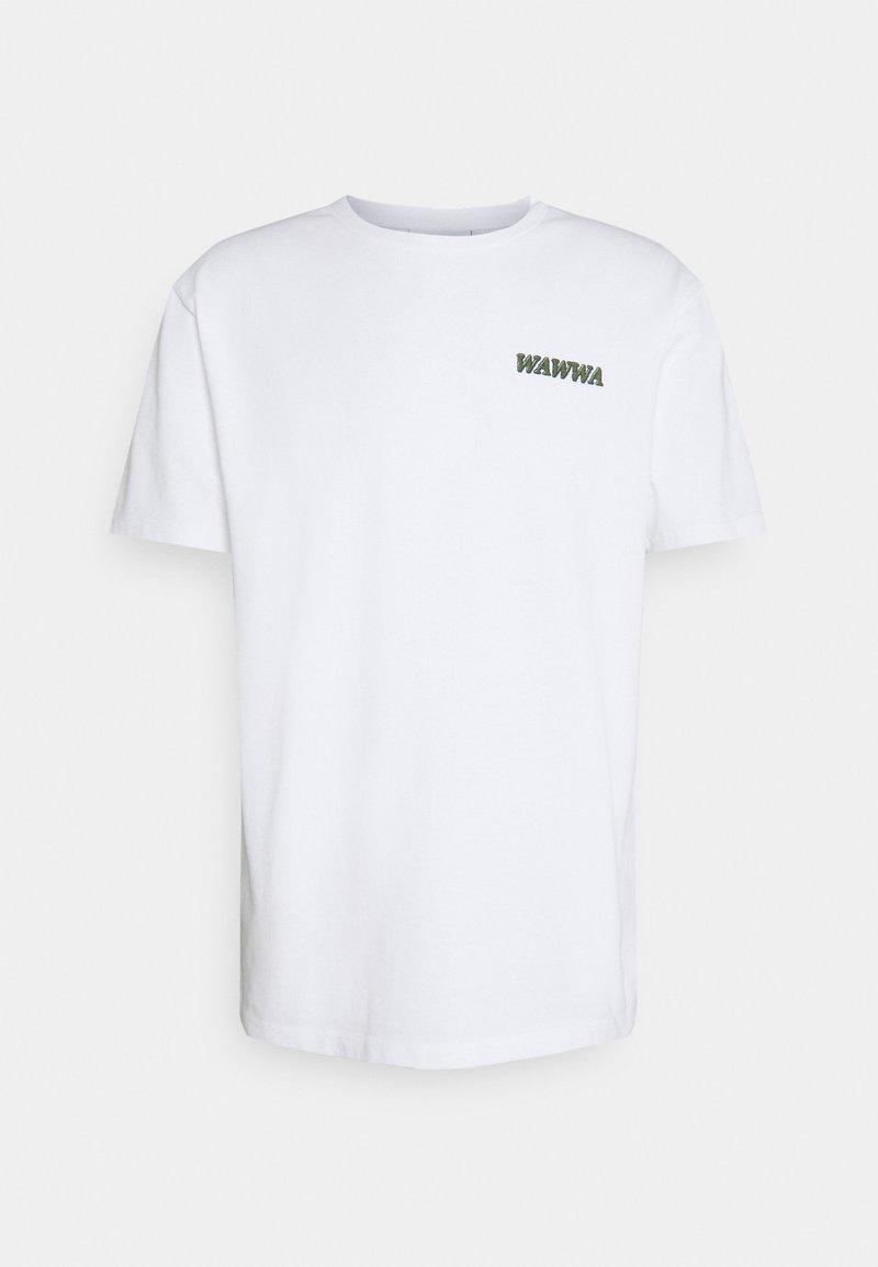 WAWWA - LARK UNISEX - Print T-shirt - white