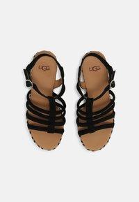 UGG - CRESSIDA - Wedge sandals - black - 4