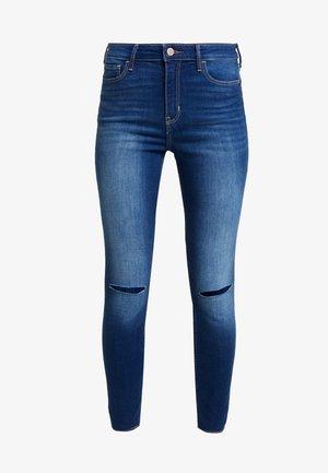 HIGH RISE SUPER CROP - Jeans Skinny Fit - blue denim