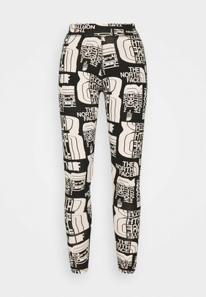 DISTORTED LOGO LEGGING - Leggings - black