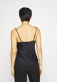 Abercrombie & Fitch - CHASE TRIM COWL CAMI  - Top - black - 2