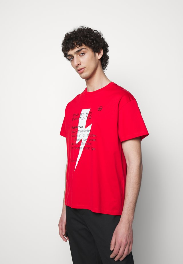 THUNDERBOLT DEFINITION SERIES - T-shirts med print - red/white/black