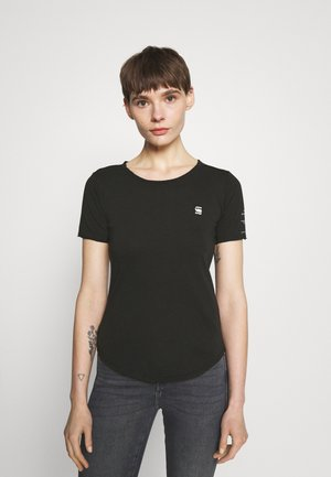 MYSID OPTION SLIM - Print T-shirt - black