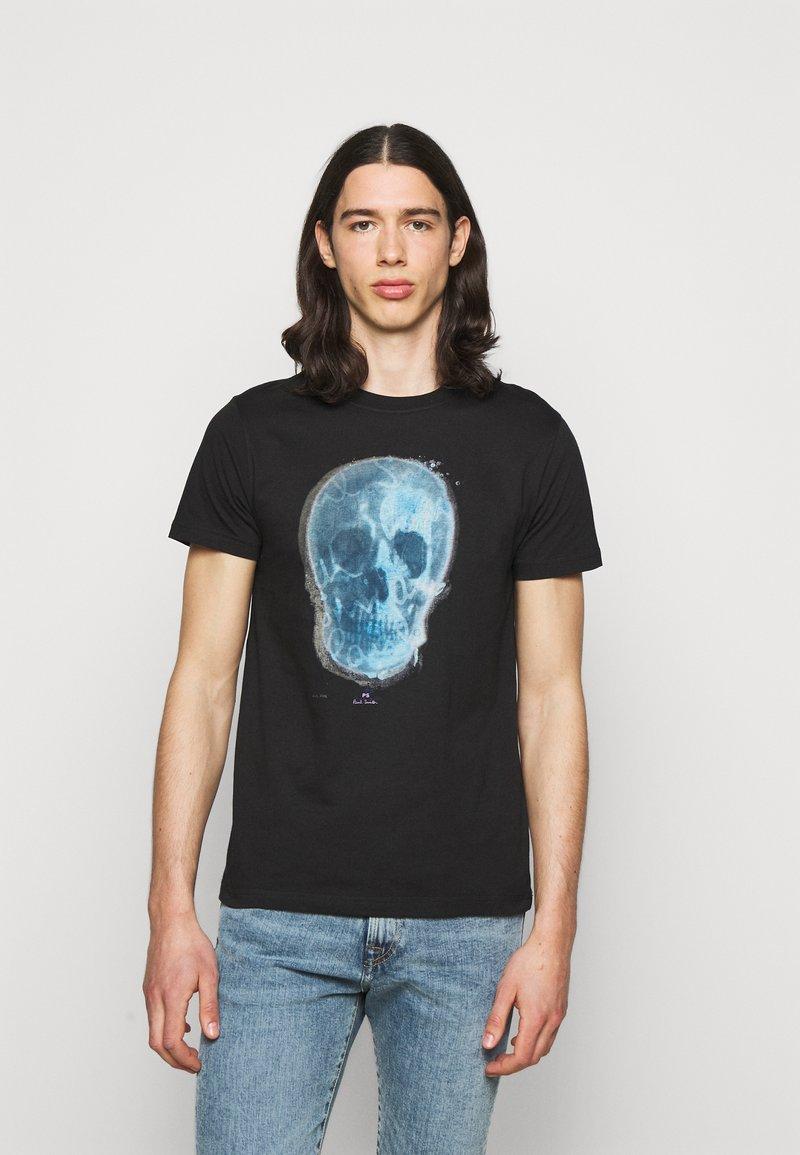 PS Paul Smith - MENS SLIM FIT SKULL - Print T-shirt - black