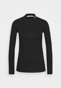 Calvin Klein Jeans - MOCK NECK TEE - Long sleeved top - black - 3