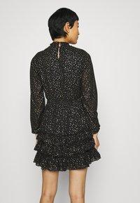 Dorothy Perkins - SPOT MINI RUFFLE - Day dress - black - 2