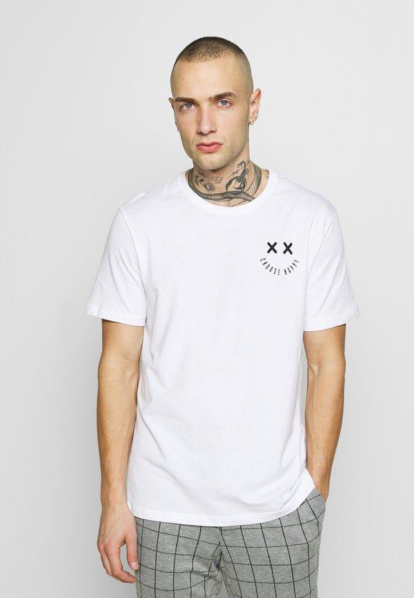 YOURTURN T-shirt z nadrukiem - white/biały Odzież Męska OJER