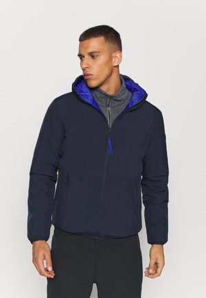 MAN JACKET FIX HOOD - Outdoorová bunda - black/blue