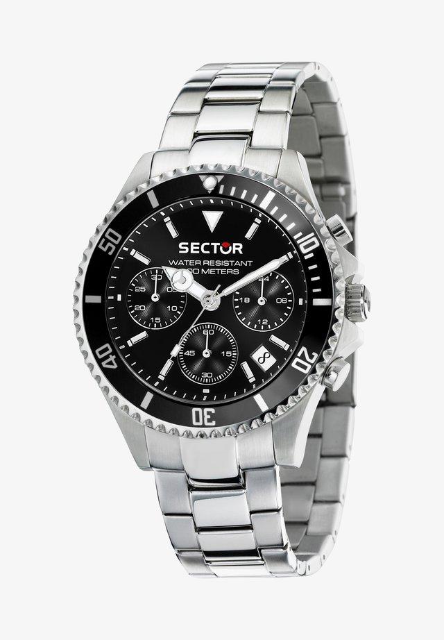 Chronograph watch - schwarz/silber